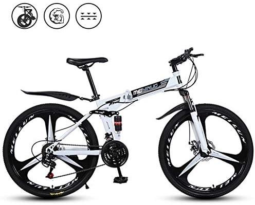 大人用折りたたみ式マウンテンバイク、26インチダブルショック吸収オフロードグレードノンスリップウェアタイヤスピード自転車