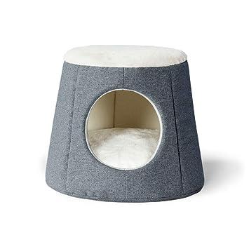KYCD Casa de Cama Plegable y cálida para Gatos, de Doble Uso como cojín Grueso