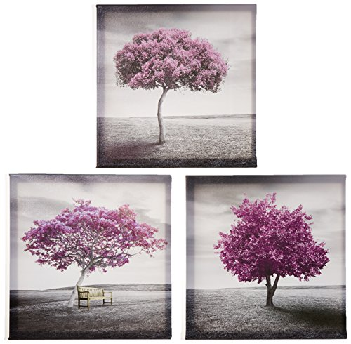 Pyradecor 3 Piece Purple Trees Modern Stretched And Framed Landscape  Artwork Giclee Canvas Prints Fall Forest Pictures Paintings On Canvas Wall  Art For ...