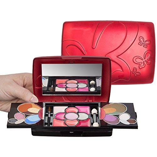 Jumbl ™ Papillon Deluxe Maquillage Kit ™ une brosse 30pc Gift Set + Jumbl et miroir