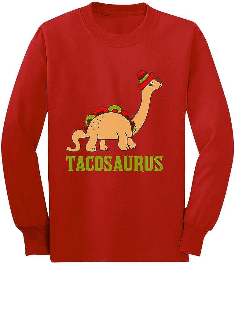 Tacosaurus Taco Stegosaurus Funny Taco Dinosaur Toddler//Kids Long Sleeve T-Shirt