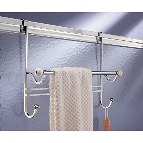 Amazoncom Interdesign York Over Shower Door Towel Bar Rack With