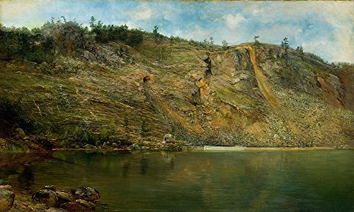 The Museum Outlet - Homer Dodge Martin - The Iron Mine, Port Henry, NY, Stretched Canvas Gallery Wrapped. 11.7x16.5