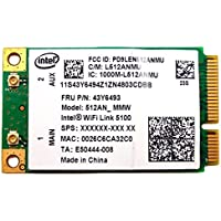 Intel WIFI Link 5100 Lenovo Thinkpad SL400 SL500 T400 W500 WIFI Adapter 43Y6493(Pack of 2)