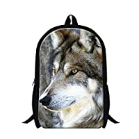 GIVE ME BAG Generic Cool Wolf Pattern School Bags Cool Backpacks for Youth