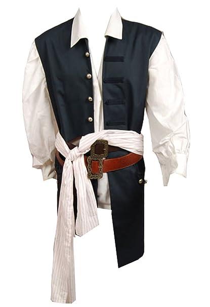 Amazon.com: paniclub disfraz de Capitán Pirata para hombre ...
