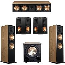 Klipsch 5.1 Cherry System with 2 RF-7 III Floorstanding Speakers, 1 RC-64 III Center Speaker, 2 Klipsch RP-250S Surround Speakers, 1 Klipsch PL-200II Subwoofer