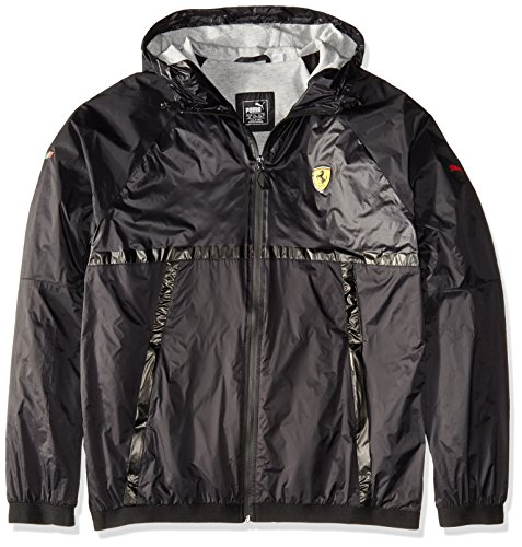 PUMA Men's SF Lightweight Jacket, Black, (Ferrari Track)