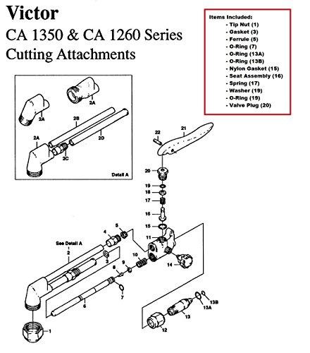 Victor 0390-0009 Repair Kit, Ca1350 [Misc.] ()