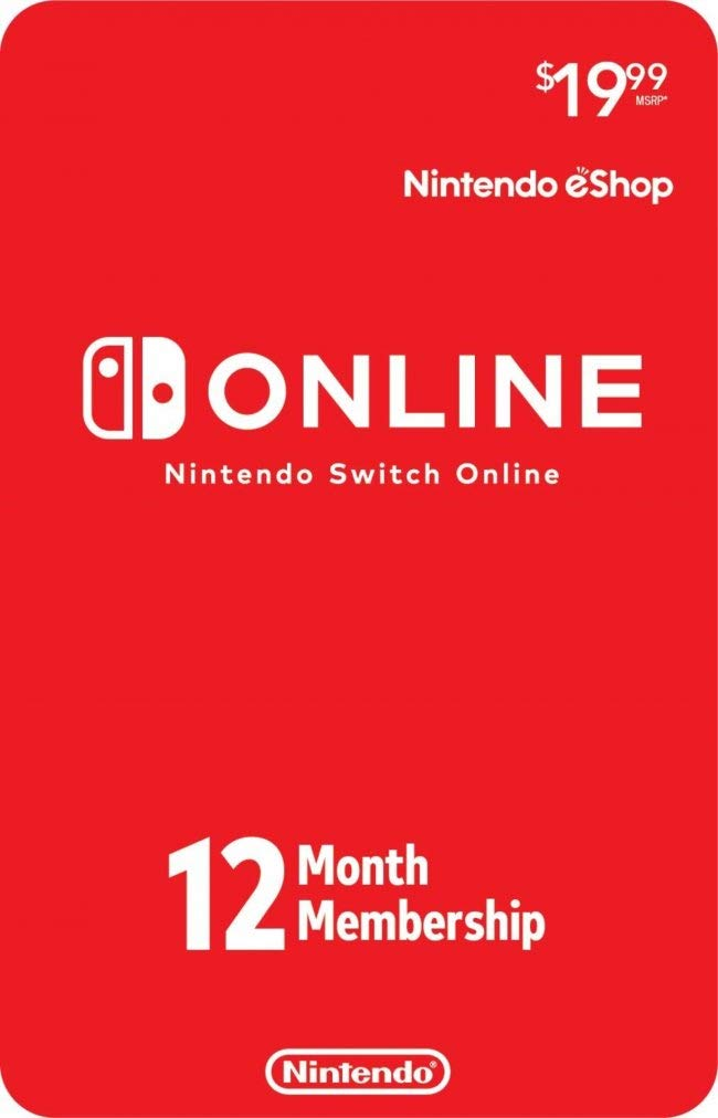Nintendo Switch Online Individual Membership Card (12-Month)