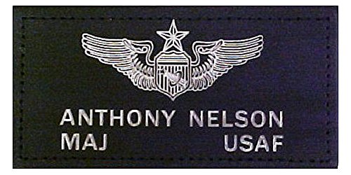 Major Anthony Nelson USAF Flight Badge for Halloween Costumes (I Dream Of Jeannie Costume)