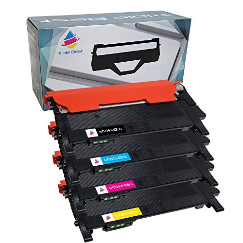 Triple Best Set of 4 Compatible Laser Toner Cartridges for Samsung CLT-K406S C406S M406S Y406S Toner Cartridges ()