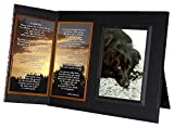 "Pet Loss Sympathy Gift, ""I'm Still Here"" , Memorial Picture Frame , with optional custom photo editing, Black with Foil Accent"
