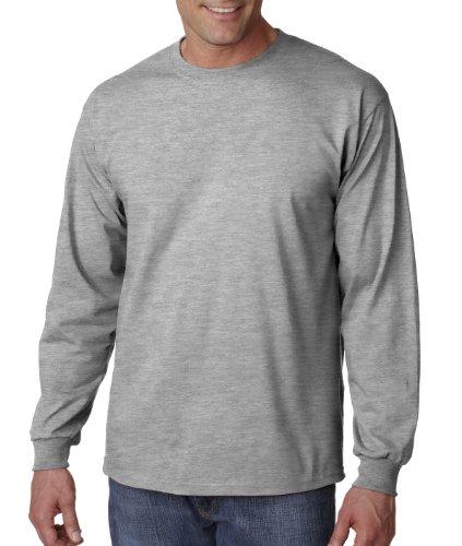 Gildan 6.1 oz. Ultra Cotton Long-Sleeve T-Shirt, Sport Grey, M