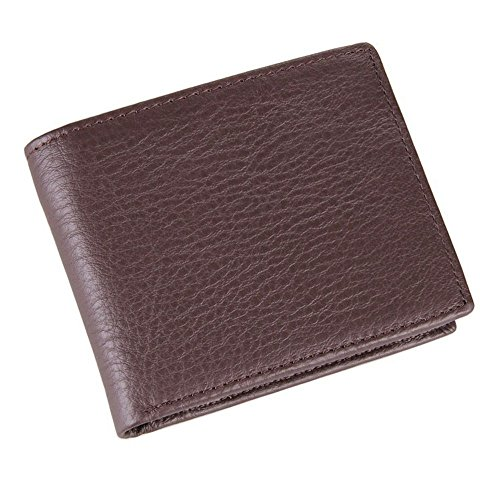 style multi card wallet leisure Coffee leather zipper vertical NHGY Short wallet 6q0CII