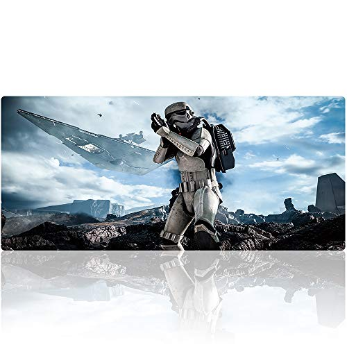 Beymemat Large Gaming Mouse Pad XXL Size (900x400mm) Extended Mouse Mat/Desk Pad with Non-Slip Rubber Base, Special-Textured Surface for Keyboard and Mouse (90x40 Star Wars)