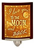 Love You to The Moon and Back - Curved Porcelain Lithophane Night Light