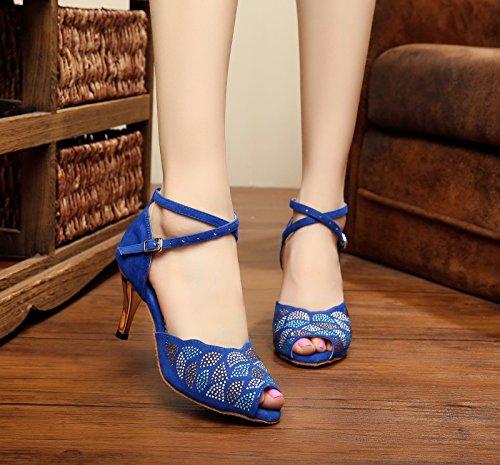 bal de Blue 5cm 35 Miyoopark Heel 7 Salle EU femme EU Bleu w5XE7O
