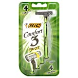 Bic Comfort 3 Triple Blade Disposable Shavers, Men, Sensitive, 4-Count (Pack of 6)