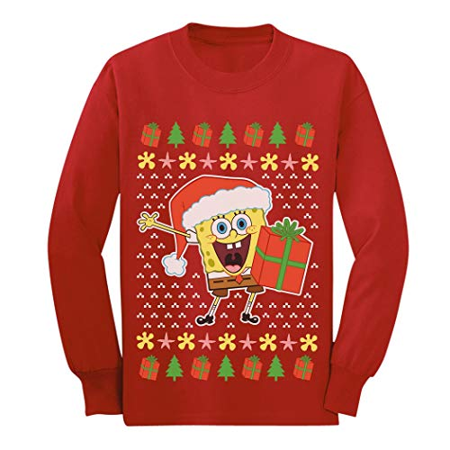 Spongebob Ugly Christmas Sweater Official Youth Kids Long