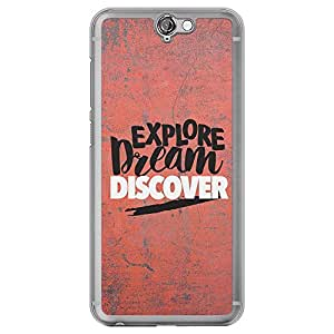 Loud Universe HTC One A9 Explore Dream Discover Printed Transparent Edge Case, Red