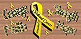 Courage Faith Strength Hope Childhood Cancer Awareness For Sale