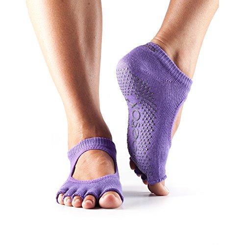 ToeSox Women's Grip Half Toe Bella Socks, X-Small, Light Purple