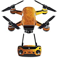 Skin for DJI Spark Mini Drone Combo - Textured Gold  MightySkins Protective, Durable, and Unique Vinyl Decal wrap cover   Easy To Apply, Remove, and Change Styles   Made in the USA