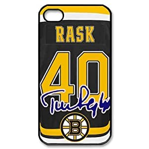 Custom NHL Boston Bruins #40 Tuukka Rask jersey black plastic Case for iphone 4 4s cover at luckeverything store by kobestar