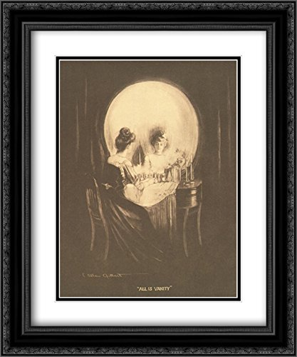 All is Vanity 2X Matted 15x19 Black Ornate Framed Art for sale  Delivered anywhere in USA