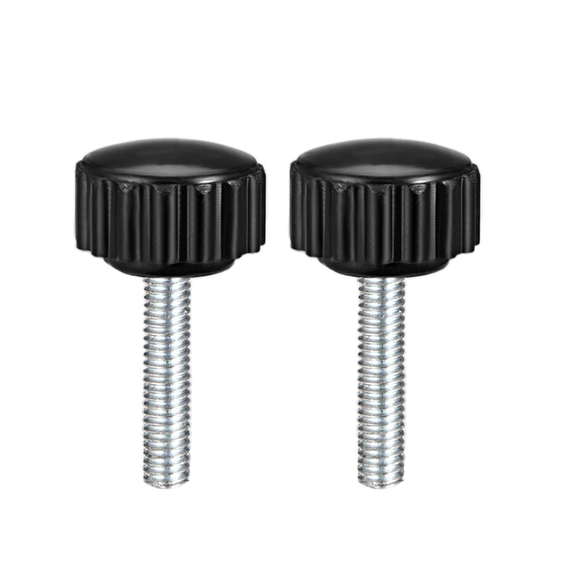 uxcell M8 x 20mm Male Thread Knurled Clamping Knobs Grip Thumb Screw on Type 2 Pcs