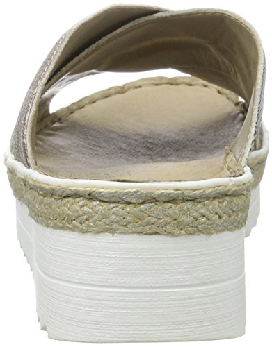 schwarz weiss Para Multicolor Rieker Mujer rose V3281 Mules qxwYczXC