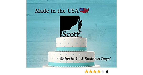 "12 cupcakes Rock Climb personal Rice paper,Icing fondant.1089 7.5/"" Cake Topper"