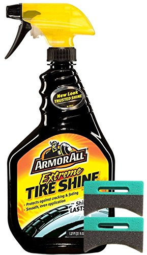 Armor All Extreme Tire Shine (22 oz.) Bundle With 2 Applicator Pads (3 Items)