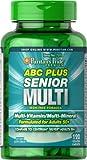 Puritans Pride ABC Plus Senior Multivitamin Multi-Mineral Formula-120 Caplets