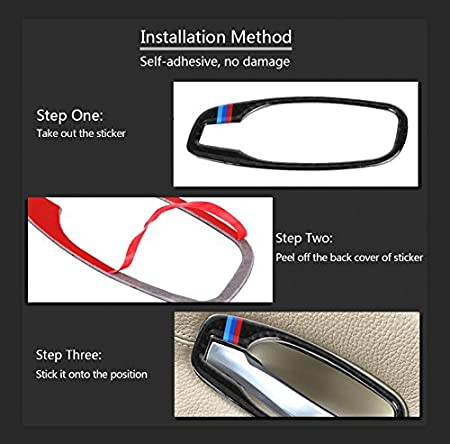 Interior Styling Door Handle Frame Sticker Accessory for BMW 5 ...
