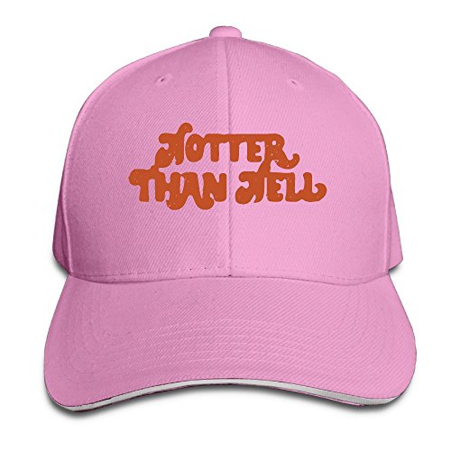 SNMHILL Men Women Hotter Than Hell Fashion Peaked Sandwich Hat Sports Adjustable Baseball Cap Unisex
