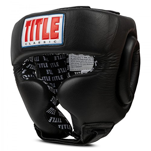 Title Boxing Classic Traditional Training Headgear 2.0, Black, Large