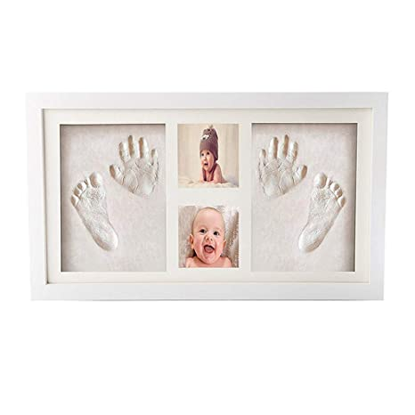 DIY Baby Handprint Footprint Clay Kit marco de fotos de bricolaje ...