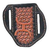 HOOey Western Knife Sheath Leather Weave Tooled Logo Orange 1642488KOR