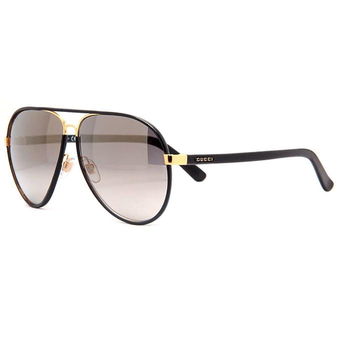 9a33e176ba8 GUCCI GG 2887 S UZAVD Black Brown Aviator Sunglasses 61mm  Amazon.ca   Clothing   Accessories