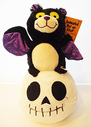 Halloween Skulls For Sale (Animated Bat on Skull Halloween Plush)