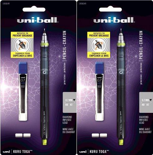 Uni-ball KuruToga 0.7mm Mechanical Pencil Starter Set 2 Pack
