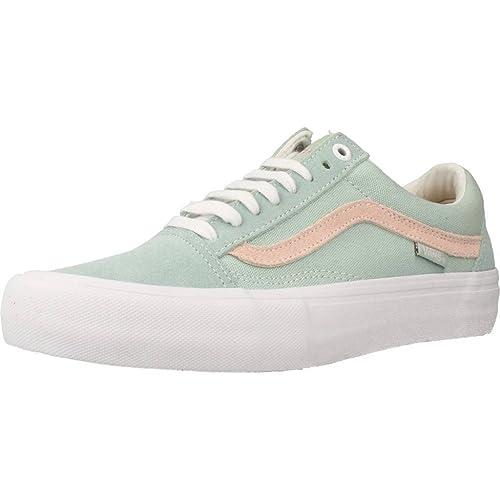 71024219ea39d5 Vans Men s Old Skool Pro Sneakers (danlu Harbor Gray Pearl) Skate Suede  Vulc Shoes Danlu Harbor Gray  Buy Online at Low Prices in India - Amazon.in