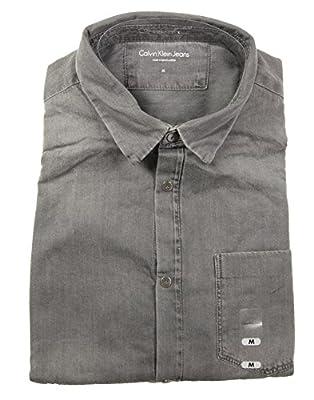 Calvin Klein Jeans Men's Long Sleeve Button Down Shirt