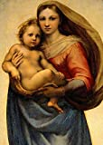 Virgin Mary Sistine Madonna and Child Jesus Picture Art POSTER Print A3 Painting Raphael Santi Holy Wall Art Decor for Home Room