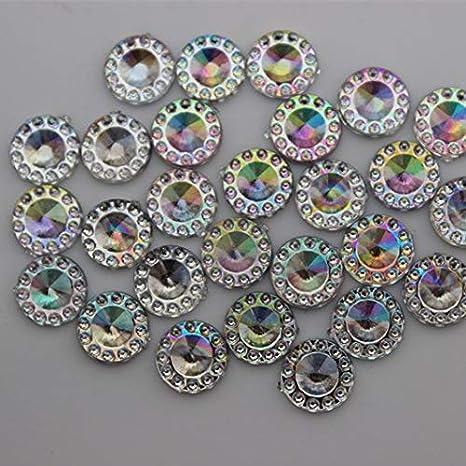 Astonish Micui ZZ126 50 Unidades, 18 x 25 mm Gotas de Diamante de imitaci/ón dise/ño de Piedras de Cristal