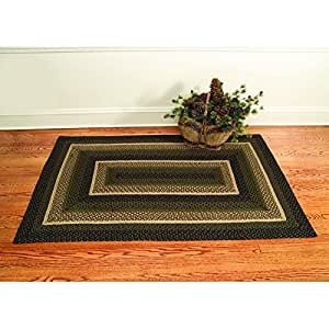 Ihf home decor country style rectangle braided for Country style kitchen rugs