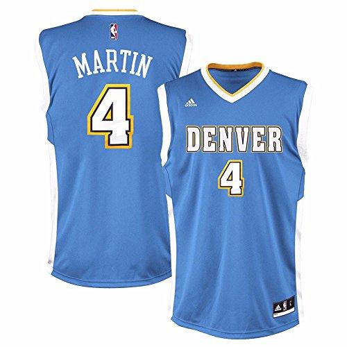 Kenyon Martin Denver Nuggets NBA Adidas Men's Blue Replica Jersey (S) ()