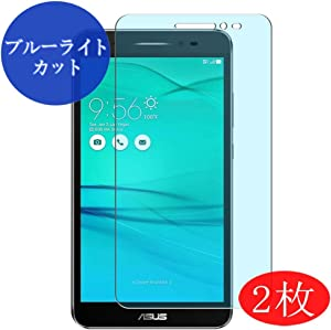 """【2 Pack】 Synvy Anti Blue Light Screen Protector for Acer ZenFone Go ZB690KG 6.9"""" Anti Glare Screen Film Protective Protectors [Not Tempered Glass]"""